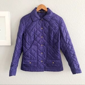 J. McLaughlin Purple Quilted Snap Front Jacket